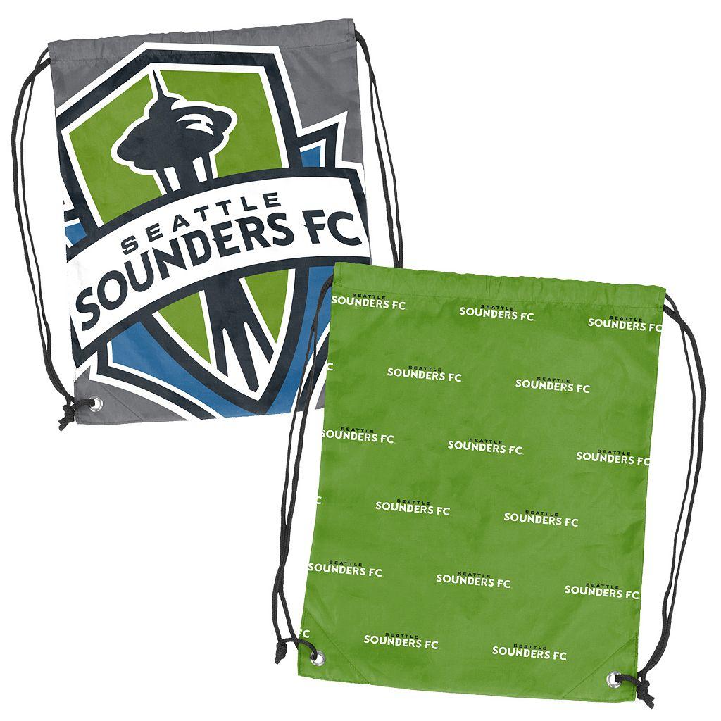 Logo Brand Seattle Sounders Double Header Reversible Backsack
