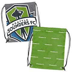 Logo Brand Seattle Sounders Double Header Reversible Backsack