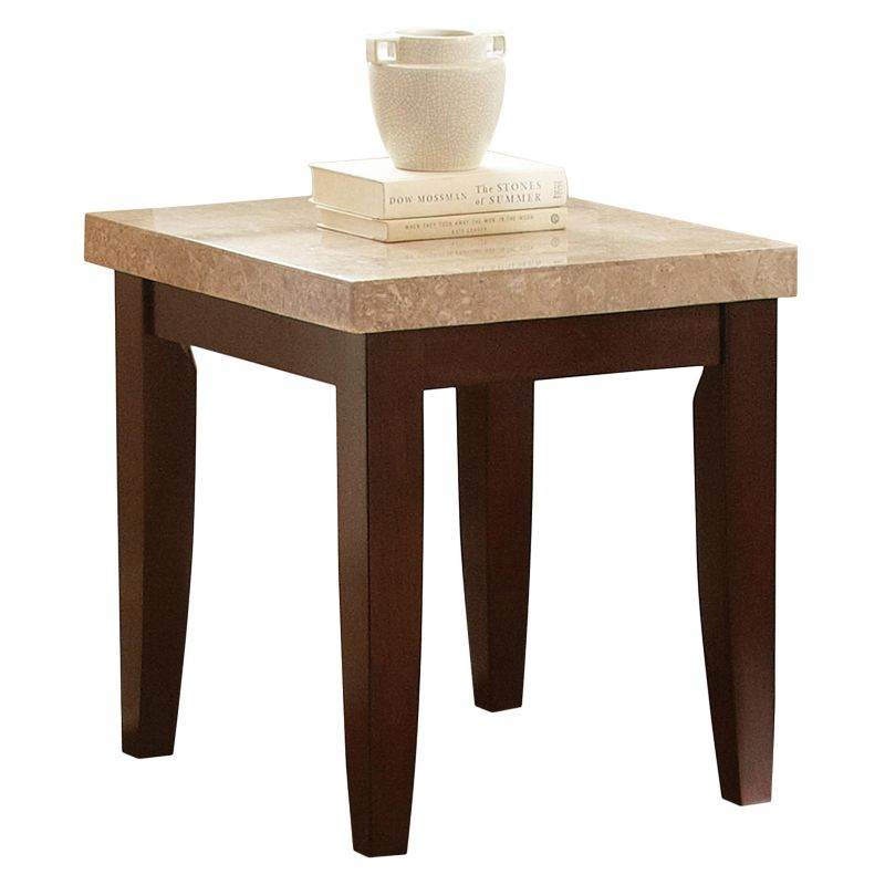 Monarch End Table, Red