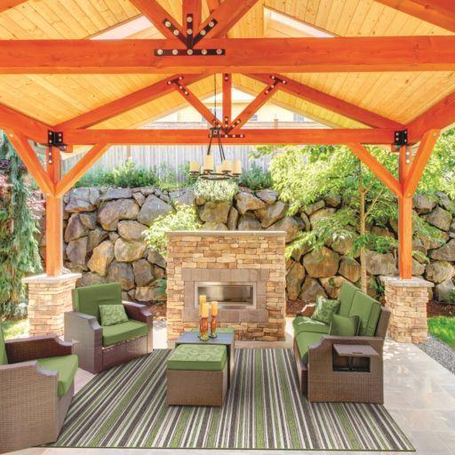 Couristan Cape Brockton Striped Indoor Outdoor Rug