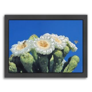 Americanflat ''Bees and Saguaro Blossom'' Framed Wall Art