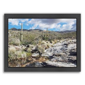 Americanflat ''Desert Pool Oasis'' Framed Wall Art
