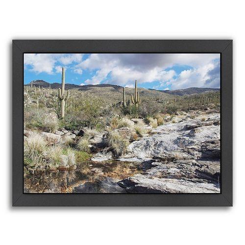 Americanflat ''Desert Pool Oasis'' Framed Wall Art