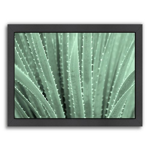 Americanflat ''Green Agave 1'' Framed Wall Art