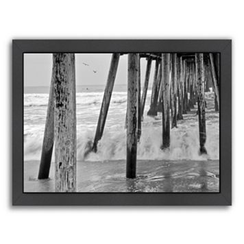 Americanflat ''Imperial Beach Pier 1'' Framed Wall Art