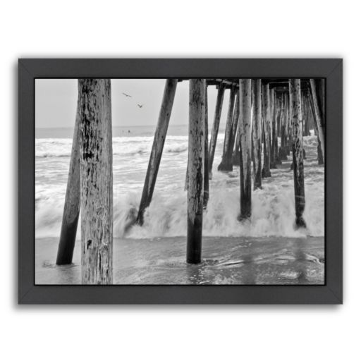Americanflat ''Imperial Beach Pier 1'' Framed Wall Art
