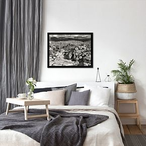 Americanflat ''Morning Desert Vista'' Framed Wall Art