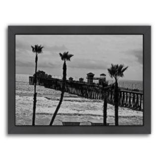 Americanflat ''Oceanside Pier 8'' Framed Wall Art