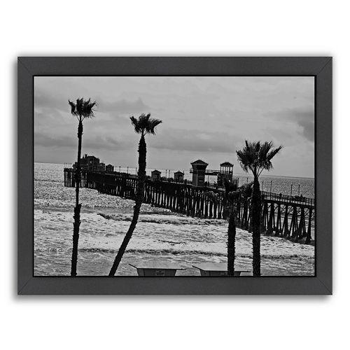 Americanflat ''Oceanside Pier 8'' Framed Wall Art