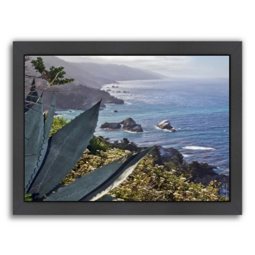 Americanflat ''Pacific Ocean Seascape 56'' Framed Wall Art