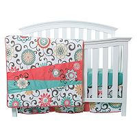 Waverly Baby by Trend Lab Pom Pom Floral 4 pc Crib Bedding Set by Trend Lab
