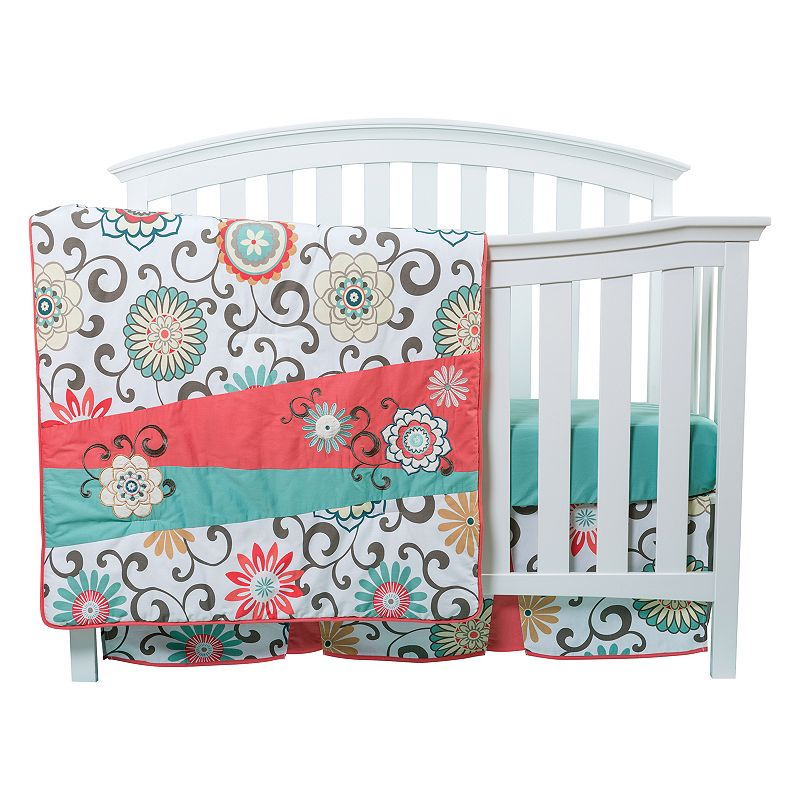 Waverly Baby by Trend Lab Pom Pom Floral 4-pc. Crib Bedding Set by Trend Lab, Multi