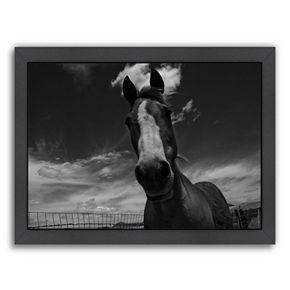 Americanflat ''Playful Pal 1'' Horse Framed Wall Art