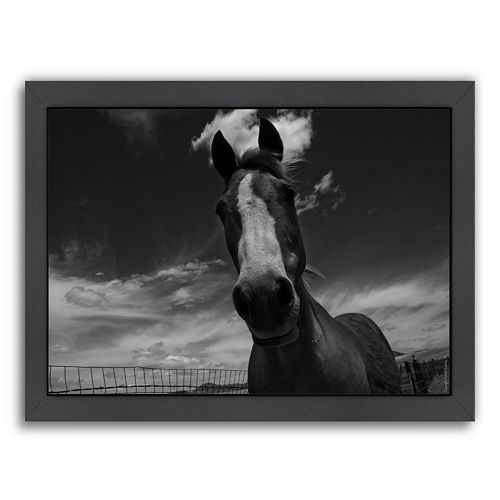 Americanflat ''Playful Pal 1'' Horse Framed Wall Art