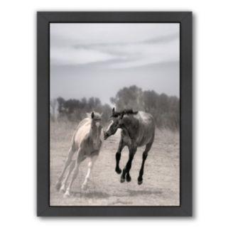 Americanflat ''Playful Pals 4'' Horse Framed Wall Art