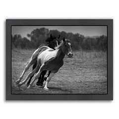 Americanflat ''Playful Pals 6'' Horse Framed Wall Art
