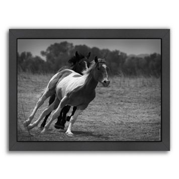 Americanflat ''Playful Pals 6'' Horse Framed Wall Art