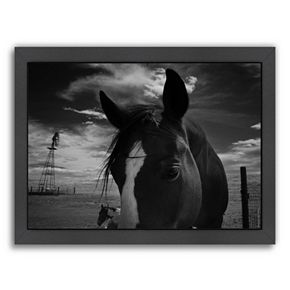 Americanflat ''Playful Pals 8'' Horse Framed Wall Art