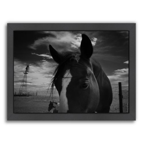 Americanflat ''Playful Pals 8'' Horse Framed Wall Art