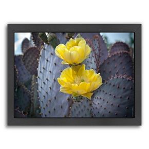 Americanflat ''Purple Prickly Pear Cactus Blossoms 2'' Framed Wall Art