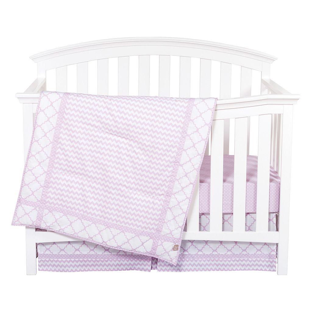 Trend Lab Orchid Bloom 3-pc. Crib Bedding Set