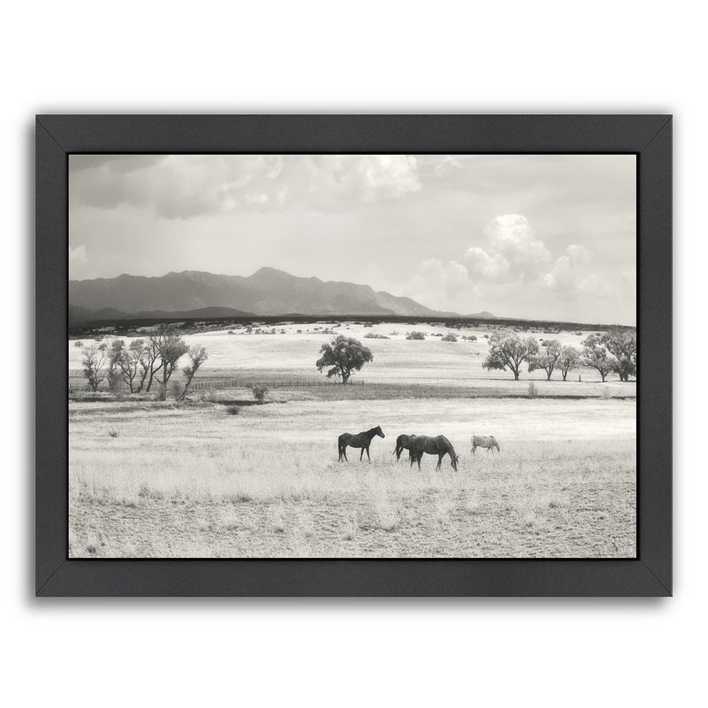 Americanflat ''Ranchland 9a'' Framed Wall Art