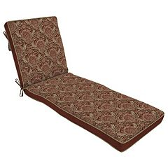 Bombay® Outdoors Venice Damask Reversible Lounge Chair Cushion