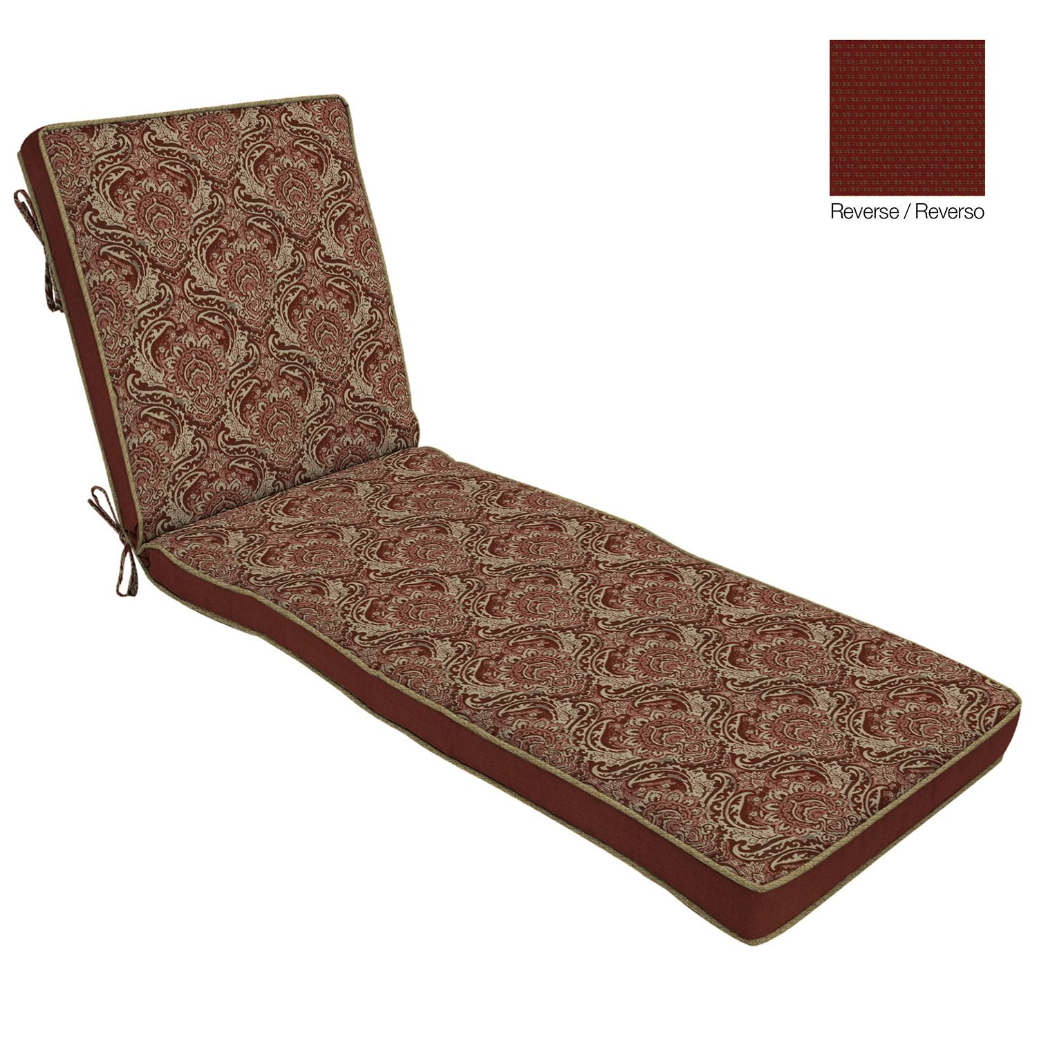 Red Chaise Lounge Cushions Outdoor Chair Pads & Cushions Home