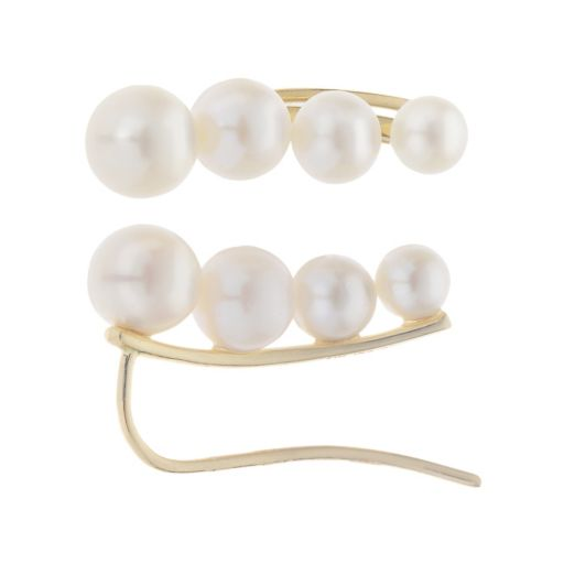 PearLustre by Imperial Freshwater Cultured Pearl Ear Climber Earrings