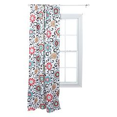 Waverly 1-Panel Baby Pom Pom Floral Window Panel by Trend Lab