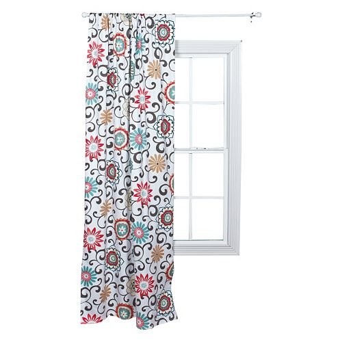 Waverly 1-pack Baby Pom Pom Floral Window Curtain by Trend Lab