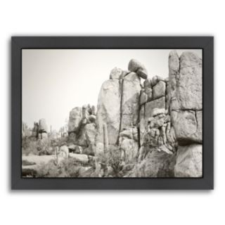 Americanflat ''Rock Wall'' Framed Wall Art