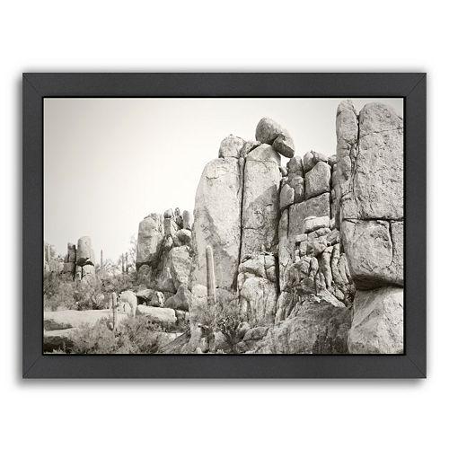 Americanflat ''Rock Wall'' Framed Wall Art