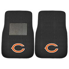 FANMATS Chicago Bears 2 pc Car Floor Mat Set