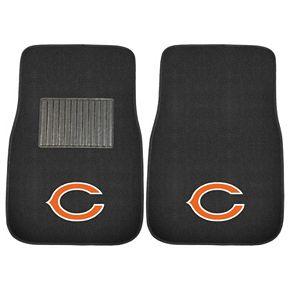 FANMATS Chicago Bears 2-Piece Car Floor Mat Set