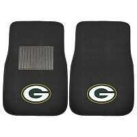 FANMATS Green Bay Packers 2-Piece Car Floor Mat Set