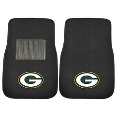 FANMATS Green Bay Packers 2-Piece Car Floor Mat Set