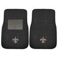 FANMATS New Orleans Saints 2-Piece Car Floor Mat Set