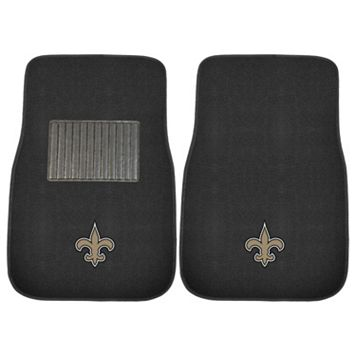 FANMATS New Orleans Saints 2-Piece Car Floor Mat Set