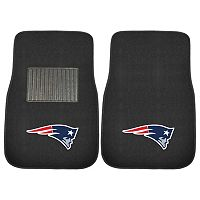 FANMATS New England Patriots 2-Piece Car Floor Mat Set