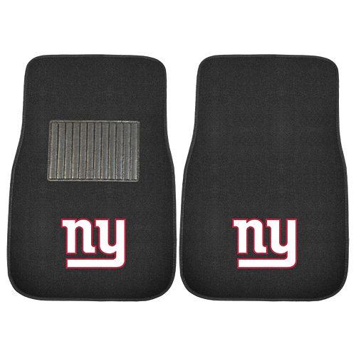 FANMATS New York Giants 2-Piece Car Floor Mat Set