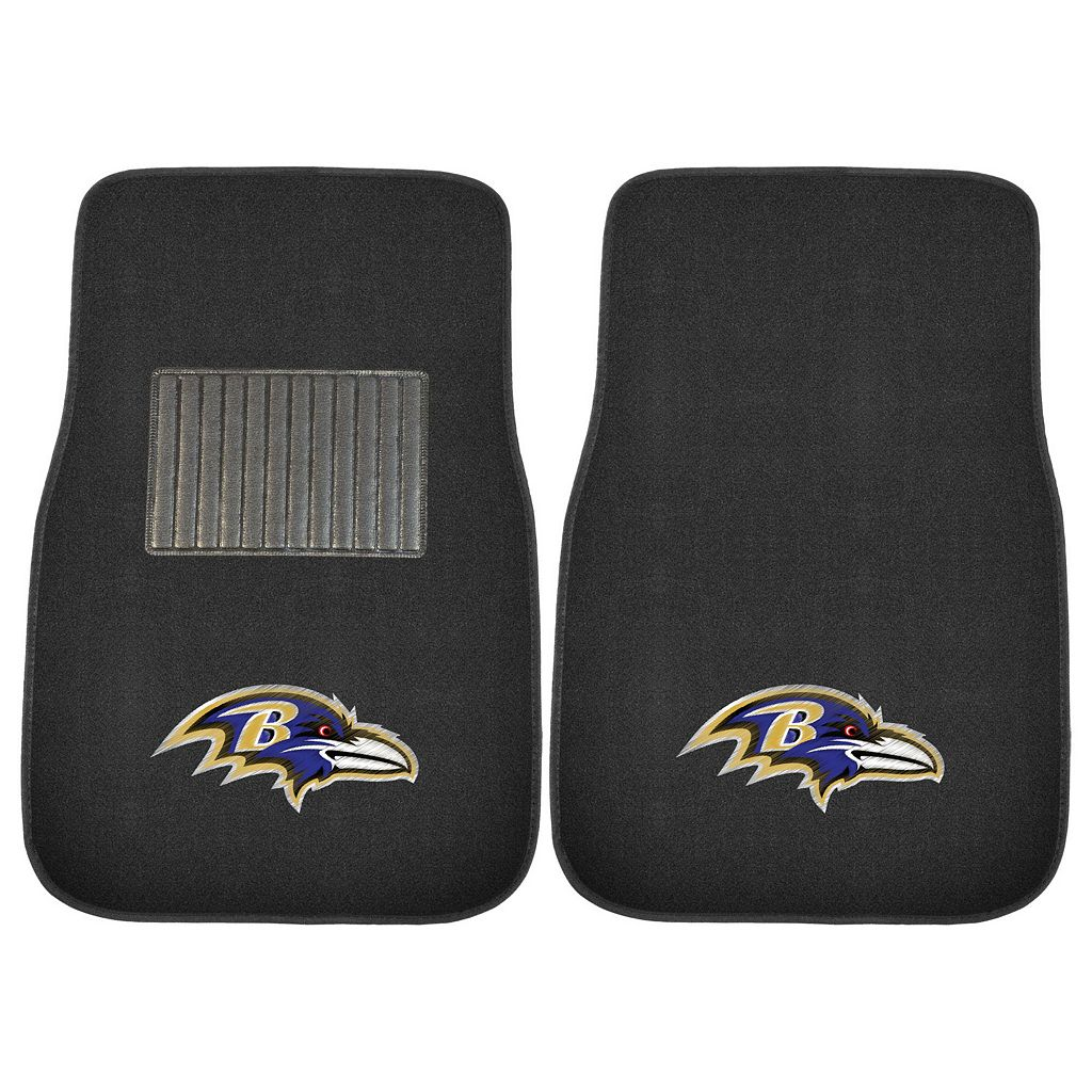 FANMATS Baltimore Ravens 2-Piece Car Floor Mat Set