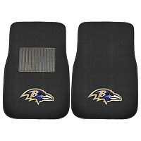 FANMATS Baltimore Ravens 2-Piece Car Floor Mat Set