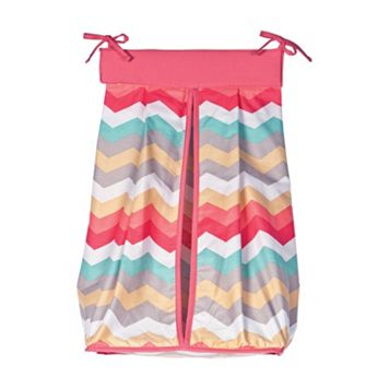 Waverly Baby by Trend Lab Pom Pom Chevron Diaper Stacker by Trend Lab