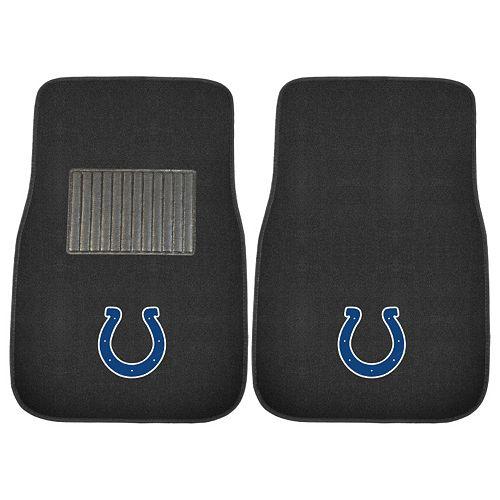 FANMATS Indianapolis Colts 2-Piece Car Floor Mat Set