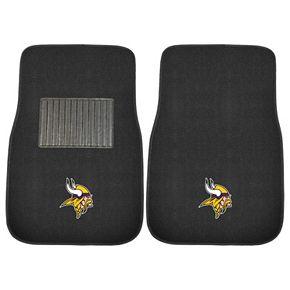 FANMATS Minnesota Vikings 2-Piece Car Floor Mat Set
