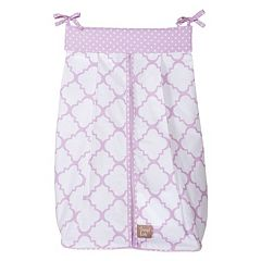 Trend Lab Orchid Bloom Quatrefoil Diaper Stacker
