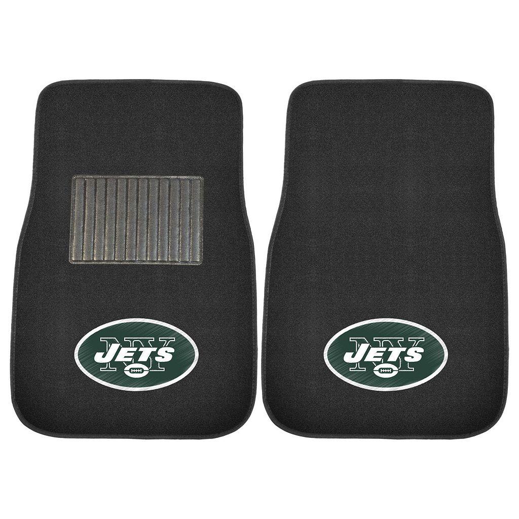 FANMATS New York Jets 2-Piece Car Floor Mat Set