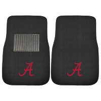 FANMATS Alabama Crimson Tide 2-Piece Car Floor Mat Set