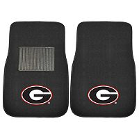 FANMATS Georgia Bulldogs 2-Piece Car Floor Mat Set